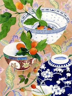 Kumquats and ceramics: Gabby Malpas watercolour