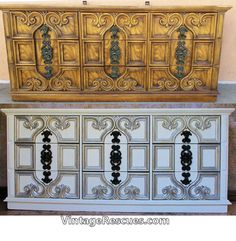 70s Hollywood Regency Carved Fronts Dresser Set By Bassett Sold Example Of My Semi Gloss