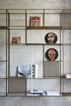 Find out all photos and details of Private House Over, Italy on Archilovers. Browse the complete collection of pictures and design drawings Bookcase Shelves, Display Shelves, Bookcases, Bookshelf Ideas, Wall Mounted Shelves, Metal Shelves, Home Theather, Home Design, Interior Design