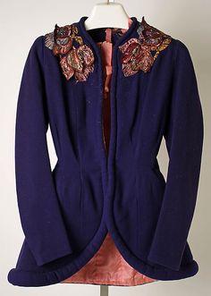 Jacket Elsa Schiaparelli (Italian, 1890–1973) Date: summer 1938 Culture: French Medium: wool, plastic, metal