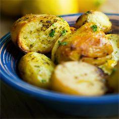 Greek Roasted Lemon Potatoes by kayotickitchen  #Potatoes #Lemon