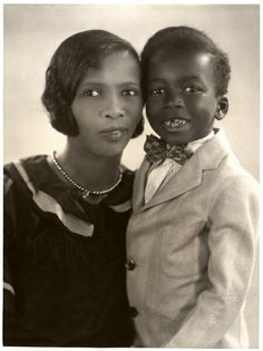 Allen Farina Hoskins with his mother Florence Hoskins candy hoskins