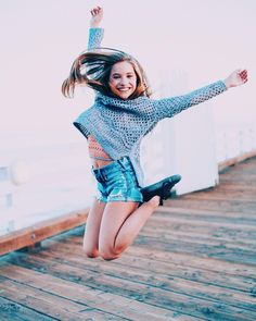 """""""Jumping for joy for sweater weather in LA"""" Pin credit to ♡DM Fandom♡"""
