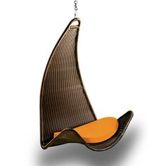 Curve Chair Chocolate/Tangerine now featured on Fab. by Outback Company