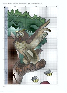 Borduurpatroon Winnie the Pooh kruissteek *Cross Stitch Pattern ~Vrienden in Boom *In Tree Disney Cross Stitch Patterns, Cross Stitch For Kids, Just Cross Stitch, Cross Stitch Needles, Cross Stitch Baby, Cross Stitch Charts, Cross Stitch Designs, Disney Stitch, Cross Stitching