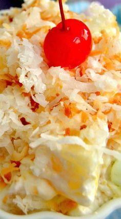 Tropical Pina Colada Ambrosia Salad