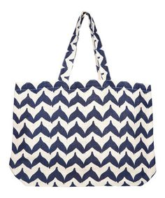 Navy Whale Tail Jute Tote - Set of Three