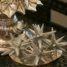 Use these sparkly star ornaments to add a little shine to your tree, or around the house as a final touch to that holiday decor!