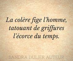 La colère - Citation - Sandra Dulier