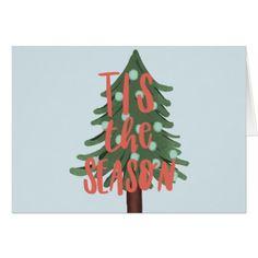tis the season card - Xmas ChristmasEve Christmas Eve Christmas merry xmas family kids gifts holidays Santa