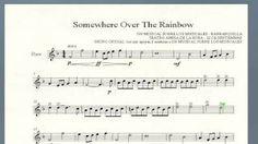 Resultado de imagem para over the rainbow partitura sax alto