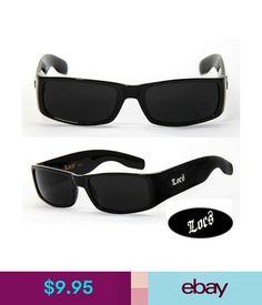 176bdfbf7e7 Sunglasses   Fashion Eyewear Locs Mens Cholo Biker Sunglasses W  Free Pouch  - Black-. eBay Australia