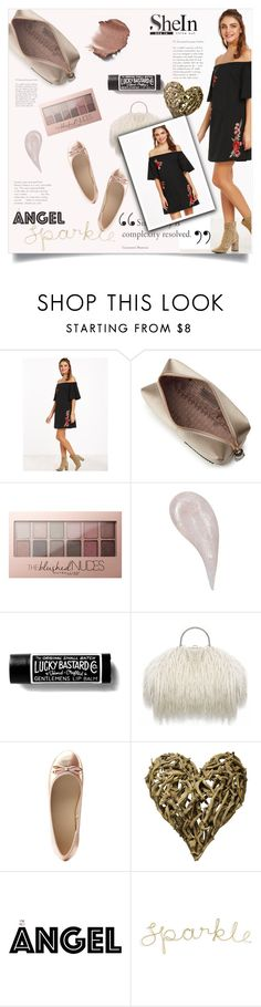"""""""Untitled #1602"""" by kriz-nambikatt ❤ liked on Polyvore featuring Anya Hindmarch, Maybelline, Charlotte Russe and Sugarboo Designs"""