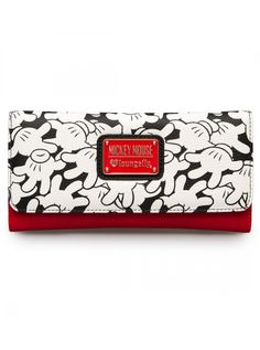"""Mickey Mouse All Over Print"" Wallet by Loungefly (White) #inkedshop #mickeymouse #print #disney #wallet #fashion"