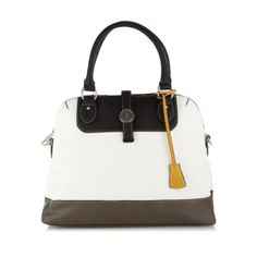 This Designer Kettle Bag From J By Jasper Conran Comes In Black White And Grey With A Flapover Popper Fastening It Has Two Grab Handles Detachable