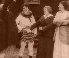 Charlie Chaplin in A Woman (it's a one of a rare occasions when we can see him on screen without the mustache).