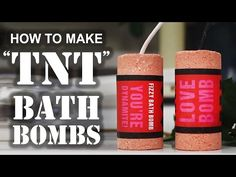 "How To Make A ""TNT"" BATH BOMB - YouTube"