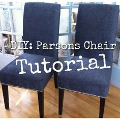 Best tutorial to redo my exact dining chairs!