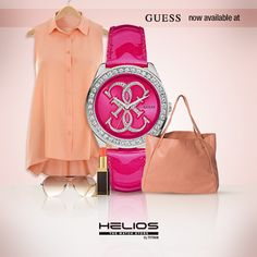 Colour bursts are in this spring... Add some pizzazz to a neutral ensemble with this electric pink watch from Guess.   (Source: Google.com)