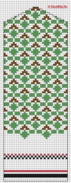 Latvisk Vott 7 Knitted Mittens Pattern, Knit Mittens, Knitting Socks, Hand Knitting, Knitting Patterns, Knitting For Kids, Knits, Cross Stitch Patterns, Pattern Design