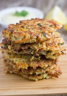 Quinoa Fritters with Healthy Garlic Aioli.