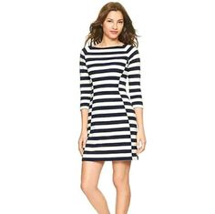 81d00629946c6 Black And White Boat Neck Striped Dress Online Clothing Sites