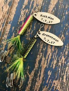 TODAY show feature Best Man Groomsman Fishing Lure Hand