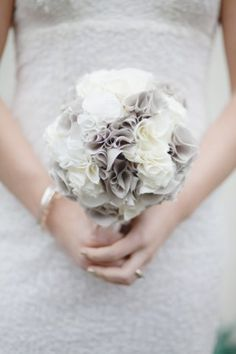 Fabric bouquet. Love the colors and texture.  But wouldn't choose to have fabric flowers