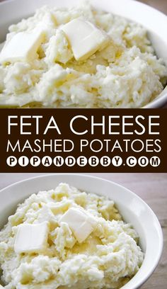 Feta Cheese Mashed Potatoes | Super yummy way to prepare a delicious mashed potato side dish!