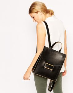Image 3 of ASOS Everly Premium Leather Backpack