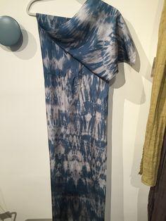 100% Shibori Dyed Habotai Silk Scarf, multi color dye