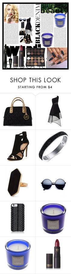 """Black EssentIals"" by magnoliarose23 ❤ liked on Polyvore featuring Oris, Michael Kors, David Koma, Jaeger, Savannah Hayes, Millefiori, Lancôme, Lipstick Queen and 13"