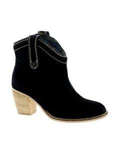 Image 1 ofPark Lane Black Suede Boots
