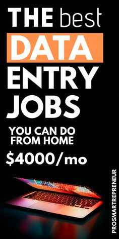 Data entry jobs are great for those who want to make easy money from home. To qualify, you just need a PC and good typing skills with great accuracy. If you're interested in a work from home data entry job you should check out the Work From Home Careers, Work From Home Companies, Legit Work From Home, Online Jobs From Home, Work From Home Opportunities, Online Work, Work At Home Jobs, Typing Jobs From Home, Easy Online Jobs