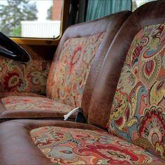 front seats early bay campervan - Home Decoration Bus Camper, Camper Life, Landrover Camper, Interior Kombi, Cafe Interior, Interior Ideas, Interior Design, Hippie Auto, Hippie Car