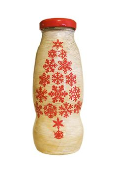 Sticla decorativa Craciun (7 LEI la pia792001.breslo.ro) Decorative Bottles, Lei