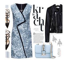 """Lustrous lines sleeveless dress"" by merima-kopic ❤ liked on Polyvore featuring Lattori, Valentino, Yves Saint Laurent, Harry Winston, dress, dresses and lattori"