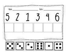 Counting and Cardinality 4 Activities Printables, centers, math journal prompts