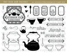 Afternoon tea stamp set