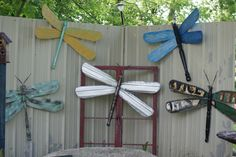 Dragonflies made from ceiling fan blades