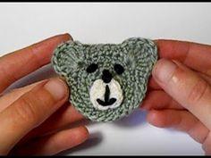 Аппликация крючком. Мишка. Мастер-класс. Сrochet bear applique Tutorial - YouTube
