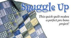 snuggle up pattern - quick and easy for a donation quilt!