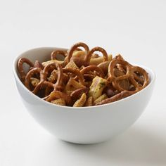 Maple Soy Snack Mix #snacks #party #holiday #menu #savory #sweet