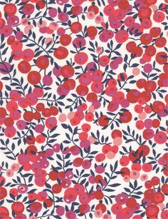 """Wiltshire S Liberty Fabric scrap tana lawn 10"""" x 10"""" square (25,4 cm x 25,4 cm) pink white red the liberty bazaar"""
