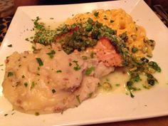 Salmon with macroni