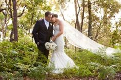 """Ashleigh and Daniel have travelled to islands all over the world- in 2014 the pair got engaged in Hawaii. So when it came time to pick the perfect spot for a wedding, they combined their wedding with an island get-away and said """"I do"""" at Kingfisher Bay Resort on Fraser Island."""