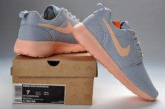 9cd253defbb5 Nike Roshe Run Women s Shoes Grey Light Orange Cheap Nike Running Shoes