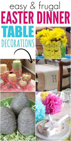 You are going to love these easy and frugal Easter Dinner Table Decorations.