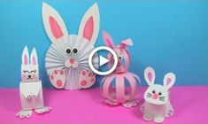 These Easy Paper Bunny Craft Ideas are awesome paper crafts for kids to try at home. And who doesn't like bunnies, right? And each paper craft idea will help. Rabbit Crafts, Mouse Crafts, Bunny Crafts, Rainy Day Crafts, Spring Crafts For Kids, Paper Bunny, Kids Origami, Easy Easter Crafts, Diy Ostern