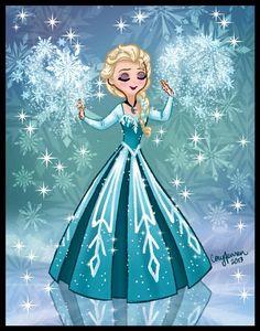 Reine des neiges Elsa.